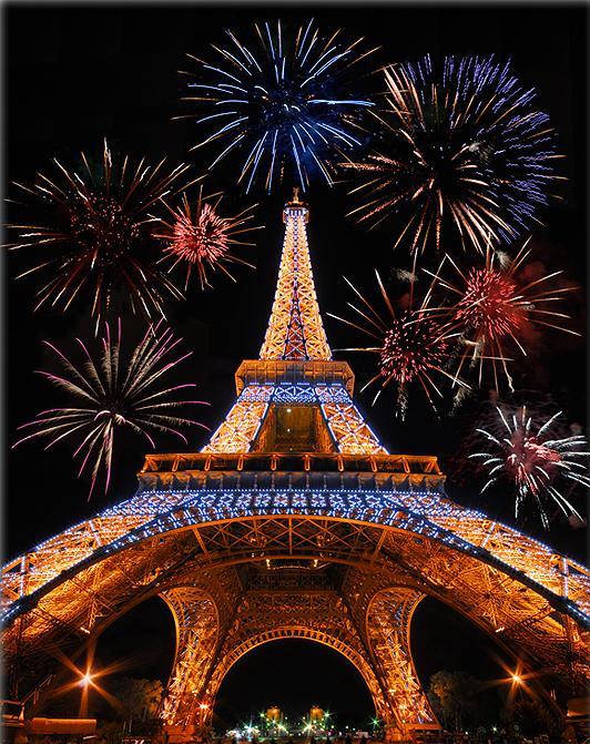 Tour Eiffel Paris Noël lumières